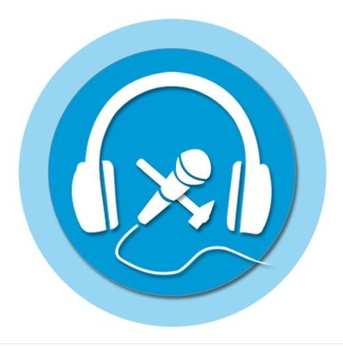 Ende Gelände Logo mit Kopfhörern und Mikrofon