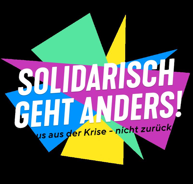 Logo: Solidarisch geht anders!